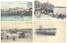 4 Cpa Cherbourg - Torpilleurs, Bateaux, Steamers, ...  ( S.3061 ) - Cherbourg