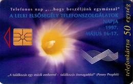TARJETA TELEFONICA DE HUNGRIA. Lelkisegély, AYUDA ESPIRITUAL. HU-P-1997-08A. (097) - Hungría
