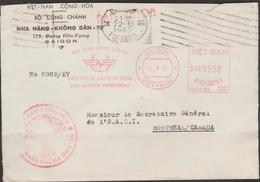 VIETNAM   Machine  Cancel Military On  1962  Cover    Réf  SV51 - Viêt-Nam