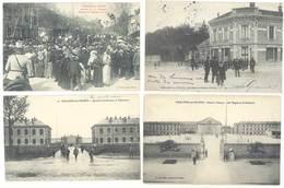 4 Cpa Chalons Sur Marne - Caserne Chanzy, 5e Chasseurs, Fabrique De Papiers Peints, Militaires ...  ( S.3062 ) - Châlons-sur-Marne