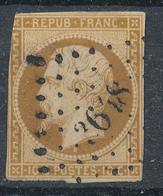 N°9  NUANCE ET OBLITÉRATION LOSANGE P.C.3648 INDICE 4. - 1852 Louis-Napoléon