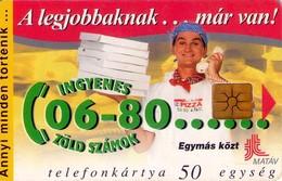 TARJETA TELEFONICA DE HUNGRIA. PIZZÁS. HU-P-1997-16B. (207) - Hungría