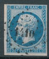N°14  NUANCE ET OBLITÉRATION - 1853-1860 Napoléon III