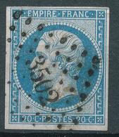 N°14  NUANCE ET OBLITÉRATION P.C.3502 INDICE 4. - 1853-1860 Napoléon III