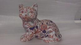 Ancien Chat En Porcelaine Chinois Signé IMARI - Aziatische Kunst