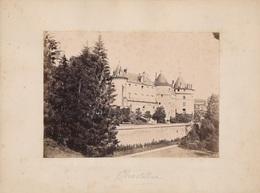 89) CHASTELLUX SUR CURE  : Le Château - Photo Albuminé Collée Sur Carton (24,5 Cm X 18,5) - Yonne - Other Municipalities