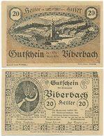Biberbach Bei Amstetten, 1 Schein Notgeld 1920, Ort Kirche, Österreich 20 Heller - Oesterreich