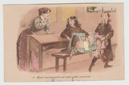 Maitresse Et Etudiantes  . Maud Veut Pervertir Une Autre Petite Camarade - Dessins