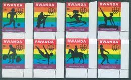 REPUBLIQUE RWANDAISE - 1976 - MNH/*** - OLYMPIC GAMES MONTREAL - COB 761-768 Yv 737-744 - Lot 18031 - Rwanda