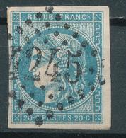 N°45  NUANCE ET OBLITÉRATION - 1870 Emission De Bordeaux