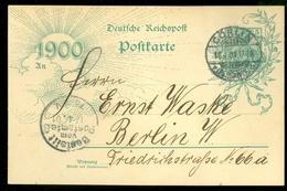 Deutsches Reich 1900 Ganzsache Postkarte Jahrhundertwende Von CORLIN Nach BERLIN  (11.451h) - Duitsland