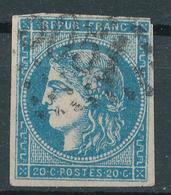 N°45  NUANCE ET OBLITÉRATION - 1870 Bordeaux Printing