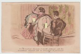 Maitresse Affligeant Chatiment Corporel à Etudiante . Martinet . Aidée Par Le Domestique - Dessins