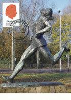 D35238 CARTE MAXIMUM CARD RR 2010 NETHERLANDS - STATUE FANNY BLANKERS-KOEN ATHLETICS OLYMPICS 1948 LONDON CP ORIGINAL - Athletics