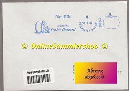 "Privatpost - PIN - Werbung: "" - AFS -Die PIN Wünscht Frohe Ostern"" / Prelabel - BRD"