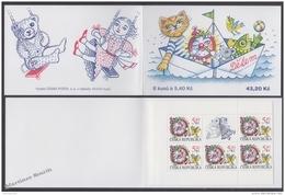 Czech Republic - Tcheque 2000 Yvert C240 For The Children, Illustrations By Khunova - Booklet - MNH - República Checa