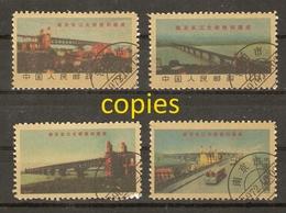 Chine Rép. Pop. 1969.5.1 - Changjiang River Bridge In Nanjing  - # 1128/31 - Petit Lot De 4 FAUX/COPIES/FORGERIES - 14 - 1949 - ... République Populaire