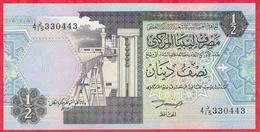 Libye 1/2 Dinar 1991 (Sign 4) UNC (24) - Libye