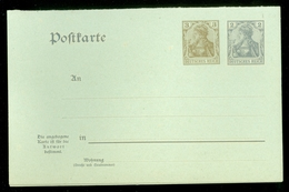 2x  Deutsches Reich Postkarte 2 Pf + 3 Pf Ongebruikt Met Antwoord (11.451m) - Duitsland