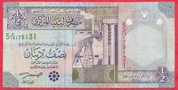 Libye 1/2 Dinar 1990(Sign 4) Dans L 'état (25) - Libya