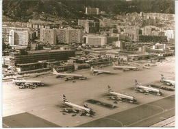 Kai Tak Airport 1969,  Carte Postale  Adressée Andorra, Avec Timbre à Date Arrivée, Deux Photos - China (Hong Kong)