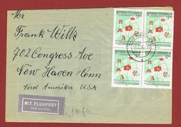 Luftpostbrief  Ab Österreich Nach U S A  1956 Porto 5.80 Sch. - 1945-.... 2. Republik