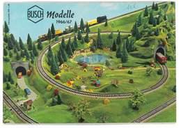 CATALOGUE BUSCH 1966/67 MODELLE MODELISME FERROVIAIRE GARES MAISONS PONTS ETC ... - Books And Magazines