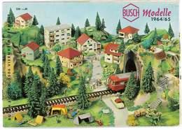 CATALOGUE BUSCH 1964/65 MODELLE MODELISME FERROVIAIRE GARES MAISONS PONTS ETC ... - Books And Magazines