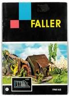 CATALOGUE FALLER 1961/62 MODELLE MODELISME FERROVIAIRE GARES MAISONS PONTS ETC ... - Books And Magazines