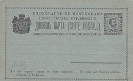 Entier Postal Principauté Du Monténégro - Non écrit/Non Oblitéré - Montenegro