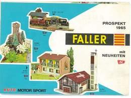 CATALOGUE FALLER 1965 AUTO MOTOR SPORT MODELISME FERROVIAIRE CIRCUITS - Books And Magazines