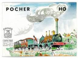 CATALOGUE POCHER 1963 MODELISME FERROVIAIRE TRAINS VOITURES WAGONS AUTOS ACCESSOIRES - Books And Magazines