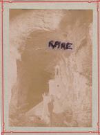 PHOTO ANCIENNE,1880,38,ISERE,GROTTE DE LA BALME,PRES DES BERGES DU RHONE,RARE - Plaatsen