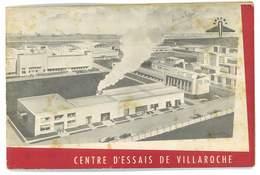 BROCHURE SOCIETE SNECMA USINES FRANCE CENTRE D'ESSAIS DE VILLAROCHE - Aviation