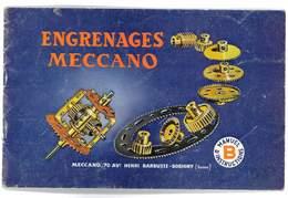 MECCANO ENGRENAGES MANUEL D'INSTRUCTION B - Meccano
