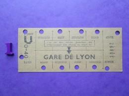ANCIEN TICKET Carte RATP Métro Hebdomadaire De Travail - PARIS - BE - Subway