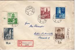 Mi 40+42+45+47/78 Dt BDF En RECOMM De Warshau SW 30 / 23.IX.40-> Stettin- Finkenwalde/25.9 - 1939-44: 2. WK