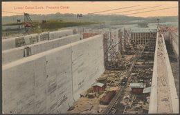 Lower Gatun Lock, Panama Canal, C.1910s - Underwood & Underwood Postcard - Panama