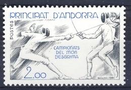 +D3102. Andorra 1981. Sport : Fencing. Michel 317. MNH(**) - Ungebraucht