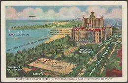 Edgewater Beach Hotel, Chicago, Illinois, C.1925 - Max Rigot Postcard - Chicago