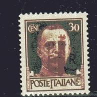 EMISSIONI LOCALI ALESSANDRIA 1944 SOPRASTAMPATO D'ITALIA ITALY OVERPRINTED CENT. 30 MNH - Emissions Locales/autonomes