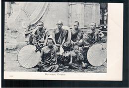 BURMA/ MYANMAR Burmese Priests Ca 1910 OLD POSTCARD 2 Scans - Myanmar (Burma)