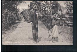 BURMA/ MYANMAR A Karen Koman And Daughter On The Way To Bazaar Ca 1910 OLD POSTCARD 2 Scans - Myanmar (Burma)
