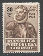 Portugal 1924 Mi# 327** LUIS DE CAMOENS - Neufs