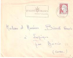 Algérie :- ORAN ST CHARLES Flamme QUALITE FRANCE - Marcophilie (Lettres)