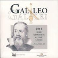 Italie 2014 : Coffret BU Des 9 Pièces (dont La 2€ Commémo 'Galileo Galilei') - Disponible En France - Italie