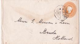 India-Inde 1907 - Victoria - Au Dos: Cachet Consulado Del Peru En Calcutta - Enveloppes