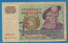 SWEDEN 5 Kronor  1972 CY# M 747555 P# 51cKing Gustav Vasa - Suecia