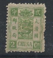 1894 CHINA DOWAGER 2 Candarins OG MINT H Sc Cv $65 CHAN23 - Chine