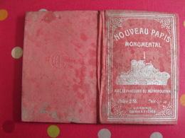 Plan Du  Nouveau Paris Monumental Et Ses Environs, Métropolitain. Garnier Sd ( Vers 1900) - Livres, BD, Revues